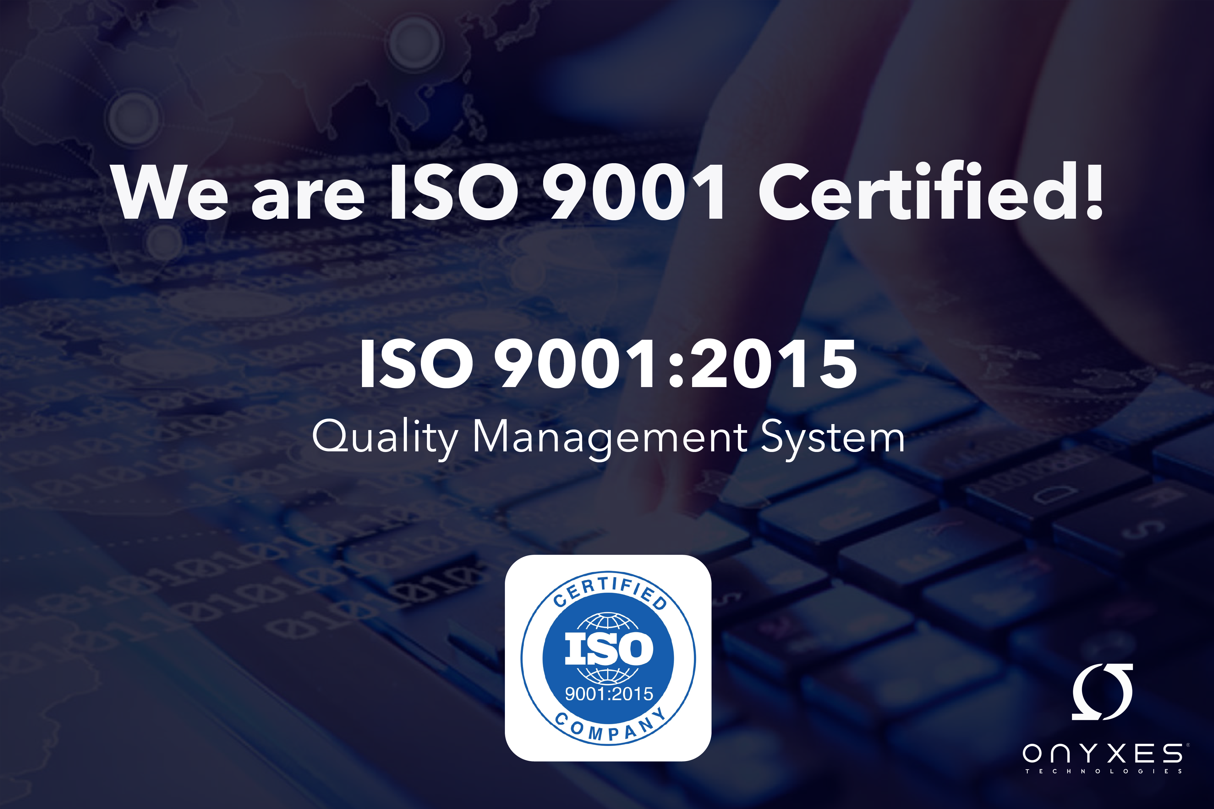 ISO 9001 certifcation cover